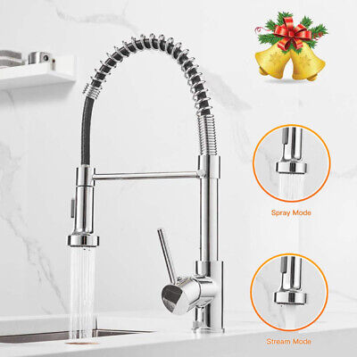 Spring Kitchen Sink Faucet Pull Down Solid Brass Single Handle Kitchen Faucet US