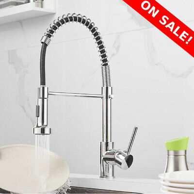 Spring Kitchen Sink Faucet Pull Down Solid Brass Single Handle Kitchen Faucet Kg