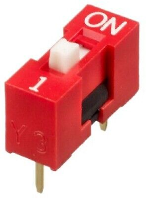 Apem DIP SWITCHES 120Pcs 25mA 1-Position SPST Through Hole, Raised Actuator