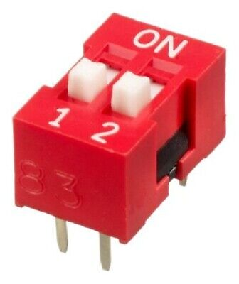 Apem DIP SWITCHES 72Pcs 25mA 2-Positions SPST Through Hole, Raised Actuator