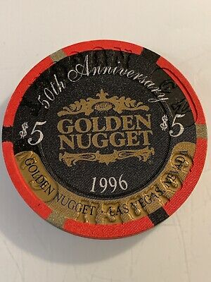 GOLDEN NUGGET $5 Casino Chip Las Vegas Nevada 3.99 Shipping