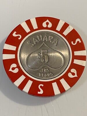 SAHARA HOTEL $5 Casino Chip Las Vegas Nevada 3.99 Shipping