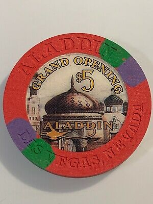 ALADDIN $5 Casino Chip Las Vegas Nevada 3.99 Shipping