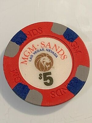 MGM SANDS $5 Casino Chip Las Vegas Nevada 3.99 Shipping