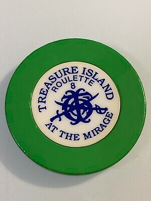 TREASURE ISLAND ROULETTE Casino Chip Las Vegas Nevada 3.99 Shipping