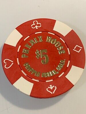 PHENIX HOUSE $5 Casino Chips Cripple Creek Colorado 3.99 Shipping