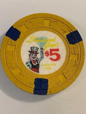 DIAMOND JIM'S $5 Casino Chip JACKPOT Nevada 3.99 Shipping