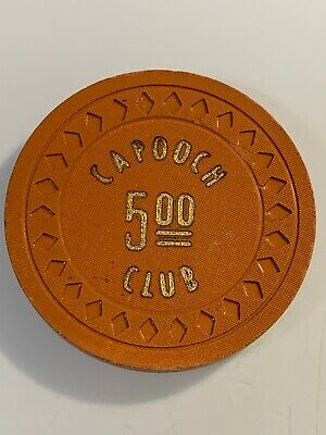 CAPOOCH CLUB $5 Casino Chip GERLACH Nevada 3.99 Shipping