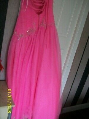 stunning pink prom dress by yasmin size 6