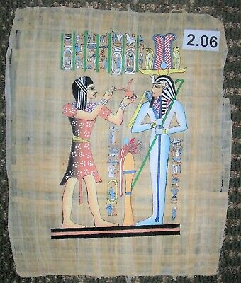 Egyptian Papyrus*The priest and Osiris*30x40 cm*Additional-$8.00*ep.A-2.06