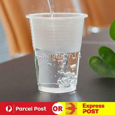 200ml Clear Disposable Plastic Cups Party Drinking Water Coffee Cup Reusable AU