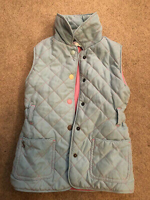Girls Joules Powder Blue sleeveless gilet age 3 years excellent condition