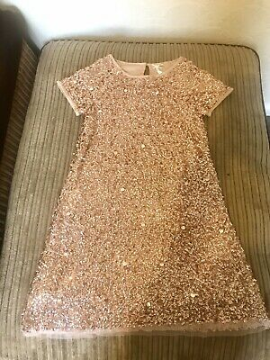 Next Girls Christmas Pink Sequin Dress Age 9years