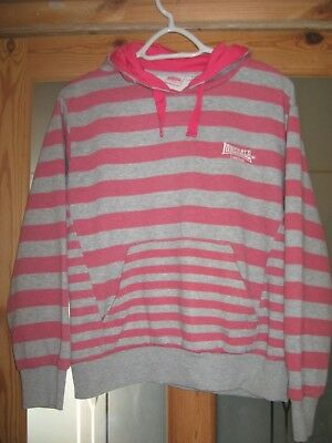 Girls striped Lonsdale Hoodie