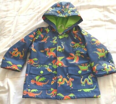 Hatley Child's Hooded Raincoat Age 18 Months Used But In Very Good Condition
