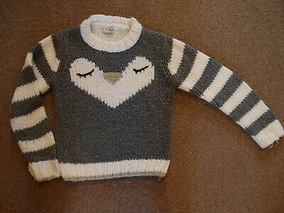 NEXT Girls Christmas Jumper Age  7-8 Years Xmas Festive VGC