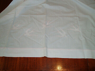 Vintage Embroidered Cot Sheet & Pillow Case
