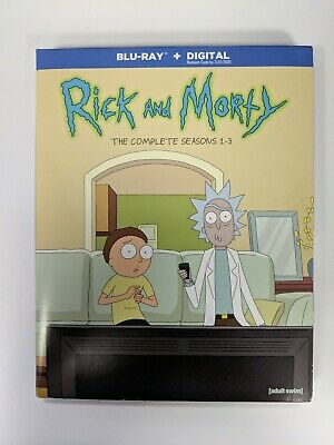RICK & MORTY: COMPLETE SEASONS 1-3  (3PC) [Bluray Only (no digital) with poster]