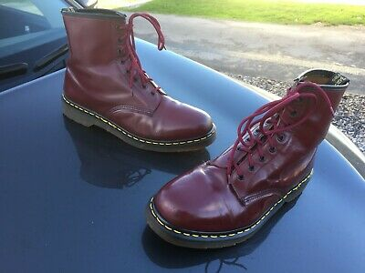 Vintage Dr Martens 1460 cherry red boots UK 12 EU 47 Made in England