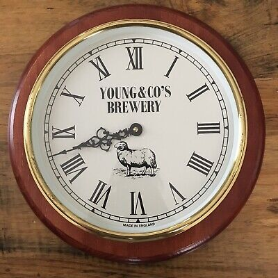 RARE VINTAGE YOUNG'S YOUNG & CO's BREWERY WALL CLOCK London England