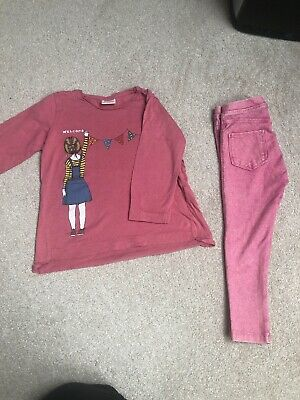 Zara Girls Outfit Size 4 Years - L/S Top & Jeggings