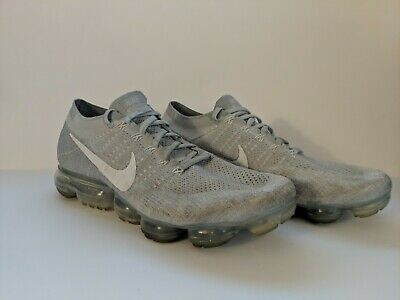 Nike Air VaporMax Flyknit Pure Platinum White Wolf Grey Men Size 12.5 849558-004