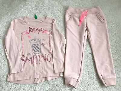 Girls' Benetton Top Sweatpants Outfit Set Size 3-4 Years