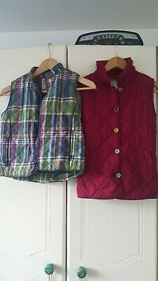 Girls Joules Quilted Gilet Coat Age 8