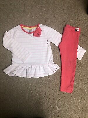 Gymboree Outfit Size 2 Years- L/s Top And Matching Leggings