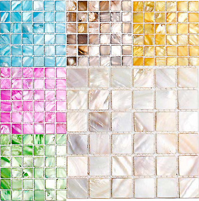 Mother of Pearl Mosaic tiles for arts and crafts - Various Colours