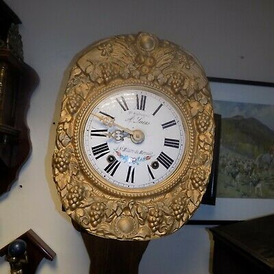 Antique French Comtoise Clock with repeating chime