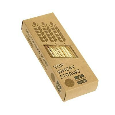 Natural Wheat Stem Drinking Straws 100% Biodegradable Eco-Friendly Compostable