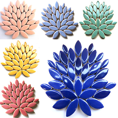 Ceramic Petals Mosaic tiles for arts and crafts - 500g Various Colours