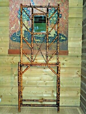 Vintage Bamboo Hall Stand / Early 20th Century Stick Stand