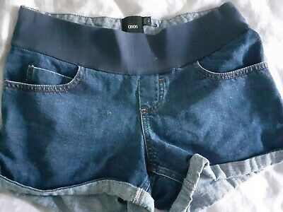 ASOS maternity blue denim shorts size 8