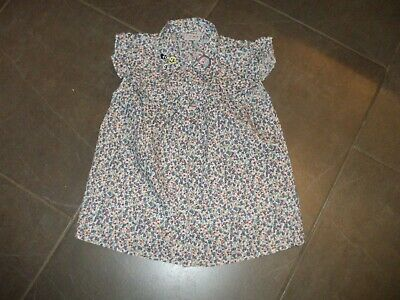 Girls Blouse By Next Age 11 Cotton Floral Blue Frilly Yoke Button Front Perfect