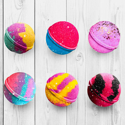 Luxury Bath Bombs Handmade Glitter Fizzy Natural - Buy 4+ Get a FREE Mini Bomb