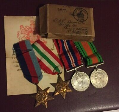 ORIGINAL WW2 BOXED MEDAL GROUP - A.R DODSON Kettering