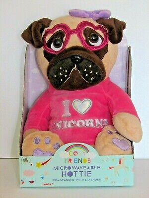 Children's Friends Microwaveable Pug Hottie Fragranced with Lavender. New