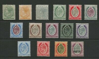 Malta Fine Small Collection Of Victoria And Edward Vii Mint Stamps