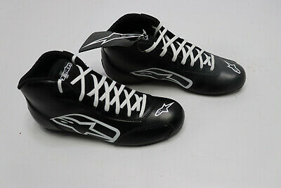 New Alpinestars 1-K Karting Shoes, Black/White, size 9.5 US / 42.5 Euro