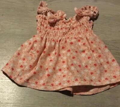 Dress Age 12-18 Months Mothercare Pink Strawberries Strappy