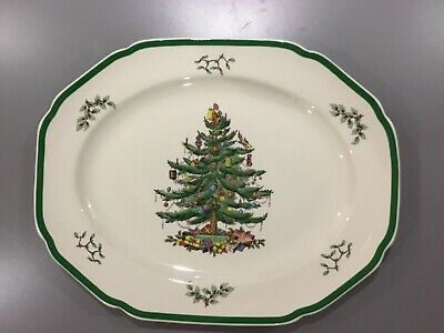 Spode Christmas Tree Large Serving Plate Meat Platter / Used Very Good Condition