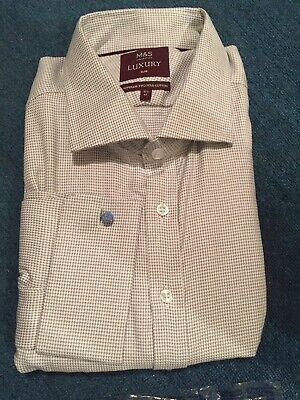 BNWT Marks And Spencer Mens Shirt - M&S Collection Luxury 18.5 Inch Collar