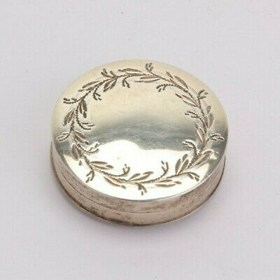 George Birmingham 1799 Samuel Pemberton sterling silver patch box, engraved