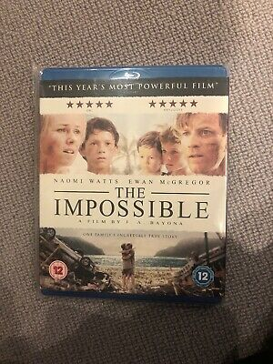 The Impossible (Blu-ray, 2013) With Slipcover Mint