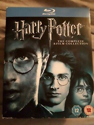 Harry Potter Blu Ray Boxset Complete 8 Film Collection