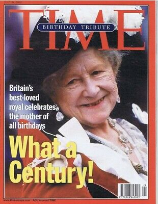 TIME Magazine Birthday Tribute Special Royal Family,Queen Mother,Century, Royals
