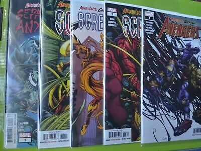 Absolute Carnage Scream #1-3, Avengers 1 & Separation Anxiety 1 NM