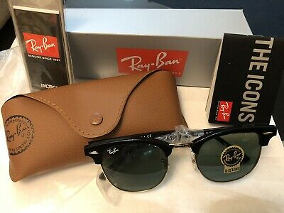 Ray-Ban Sunglasses Clubmaster 3016 W0365 Black Green G-15 51mm - Sales!